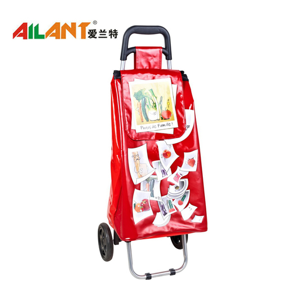 PVC Shiny fabric  shopping trolley ELD-C402-1