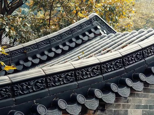 Ancient building roof tiles