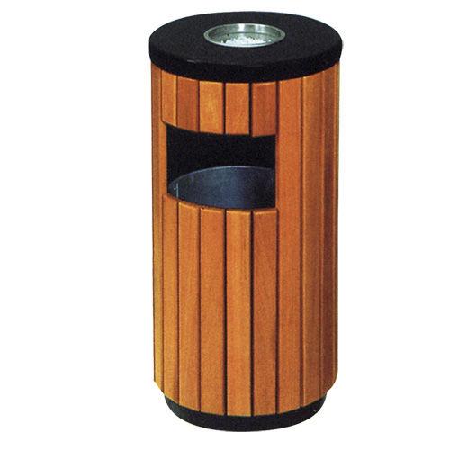 LY-GM014/钢木果皮箱-ф400x(H)800mm