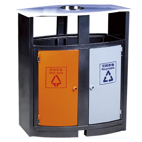 LY-JS024/金属果皮箱-(L)400x(W)350x(H)900mm