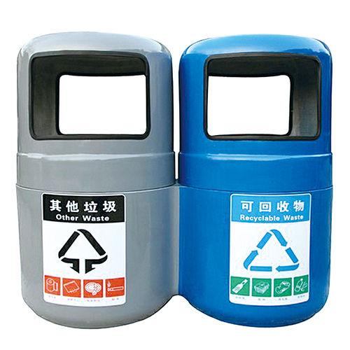 LY-G-FRP015/玻璃钢果皮箱-(W)550 ×(H)900mm