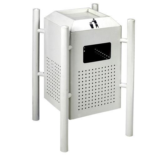 LY-CK034/冲孔果皮箱-(L) 400x(W)400x(H)850mm