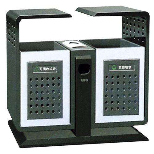 LY-CK006/冲孔果皮箱-(L)1000x(W)350x(H)950mm