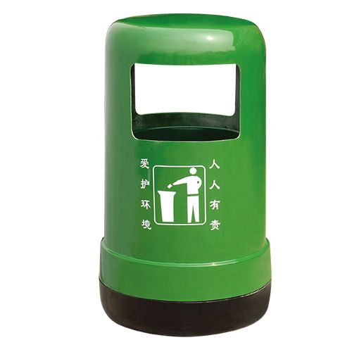 LY-G-FRP013/玻璃钢果皮箱-ф535x(H)880mm