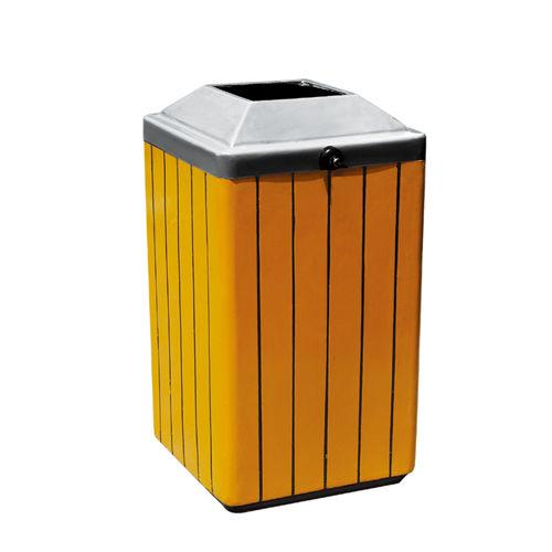 LY-GM020/钢木果皮箱-(L)400x(W)400x(H)830mm