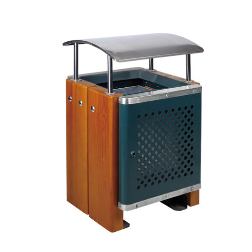 LY-GM036/钢木果皮箱-(L)600x(W)510x(H)950mm