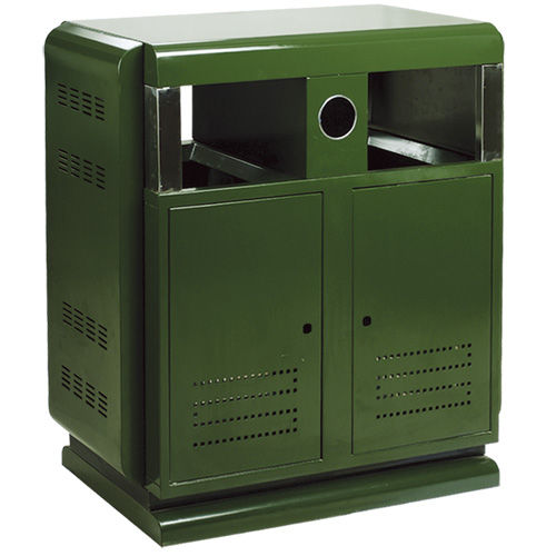 LY-JS021/金属果皮箱-(L)300x(W)300x(H)650mm