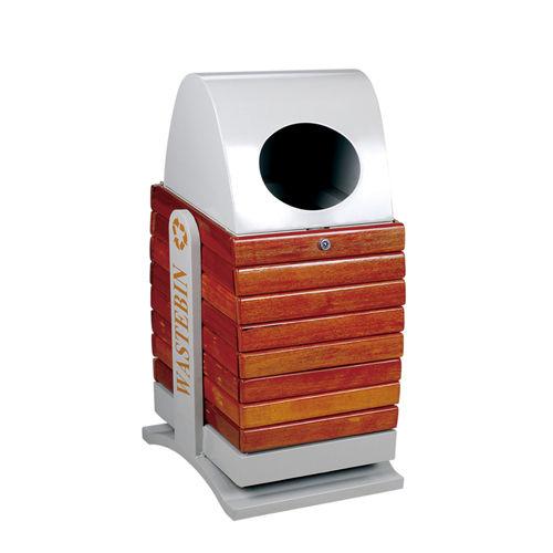 LY-GM029/钢木果皮箱-(L)400x(W)350x(H)800mm