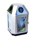 LY-BXG001/不锈钢果皮箱 -(L)600x(W)600x(H)1000mm