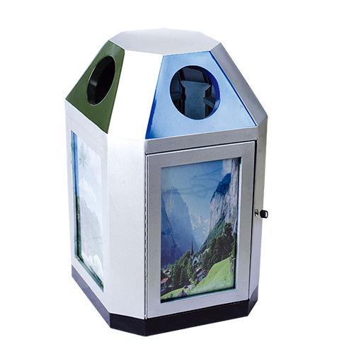 LY-BXG001/不锈钢果皮箱-(L)600x(W)600x(H)1000mm