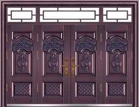 私人定制豪华非标门-9050模压工艺门(真紫铜)