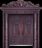 私人定制豪华非标门 -9011拼接工艺门(真紫铜)