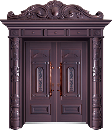 私人定制豪华非标门-9011拼接工艺门(真紫铜)