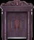 私人定制豪华非标门-8011拼接工艺门(真紫铜)