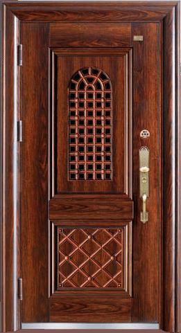 高端私人定制艺术安全门-开门大吉
