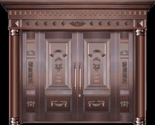 私人定制真铜别墅门-BS-8003