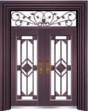 私人定制豪华非标门 -9065拼接精品花(真紫铜)