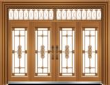 私人定制豪华非标门 -9060拼接玻璃门(土豪金)