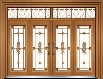私人定制豪华非标门-9060拼接玻璃门(土豪金)