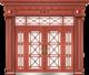 私人定制豪华非标门-8055拼接工艺门(真红铜)