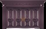私人定制豪华非标门 -9027模压工艺门(真紫铜)