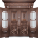 私人定制真铜别墅门-BS-8023