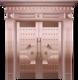 私人定制真铜别墅门-BS-8008