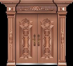 私人定制豪华非标门-8026反凸工艺门(真黄铜)