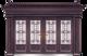 私人定制豪华非标门-8058拼接精品花(真紫铜)