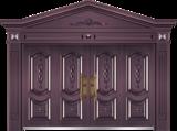 私人定制豪华非标门 -9015模压工艺门(真紫铜)