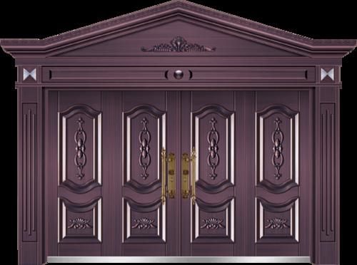 私人定制豪华非标门-8015模压工艺门(真紫铜)