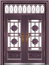 私人定制豪华非标门-8067拼接精品花(真紫铜)