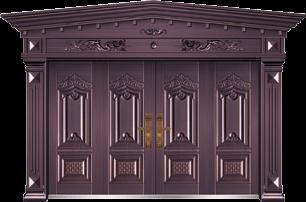 私人定制豪华非标门-9029模压工艺门(真紫铜)