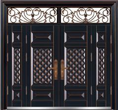 私人定制豪华非标门-9031模压工艺门(合金铜)