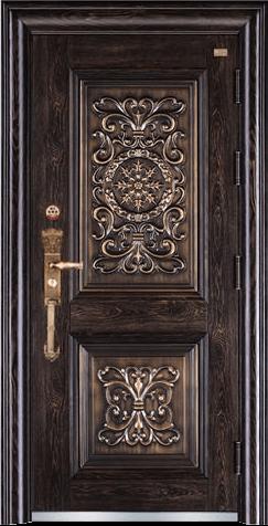 高端私人定制艺术安全门-霸和