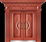 私人定制豪华非标门 -9035模压工艺门(真红铜)