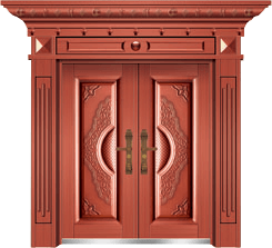 私人定制豪华非标门-9035模压工艺门(真红铜)