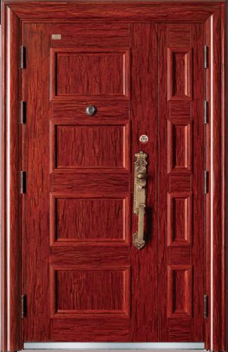 高端私人定制艺术安全门-四方进宝
