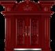 私人定制豪华非标门-8010模压工艺门(红古木)