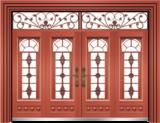 私人定制豪华非标门 -9059拼接玻璃门(真红铜)