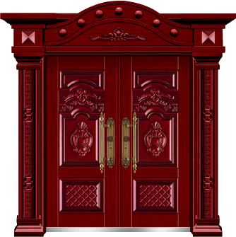 私人定制豪华非标门-8021模压工艺门(红古木)