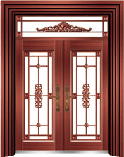 私人定制豪华非标门-8062拼接精品花(准红铜)