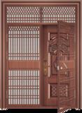 私人定制豪华非标门 -9037模压工艺门(准紫铜)