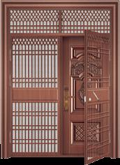 私人定制豪华非标门-9037模压工艺门(准紫铜)