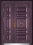 私人定制豪华非标门 -9051模压工艺门(真紫铜)
