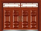私人定制豪华非标门 -9052模压工艺门(大红酸枝)
