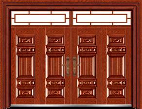 私人定制豪华非标门-9052模压工艺门(大红酸枝)