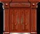 私人定制豪华非标门-9006正凸工艺门(大红酸枝)