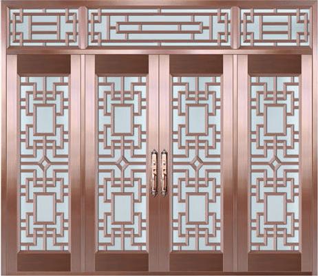 私人定制真铜别墅门-BS-8033