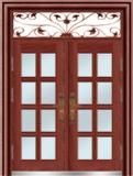 私人定制豪华非标门 -9057拼接玻璃门(磨砂转印)
